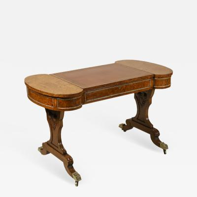 Early 19th Century Brass Mounted Pollard Oak Writing Table
