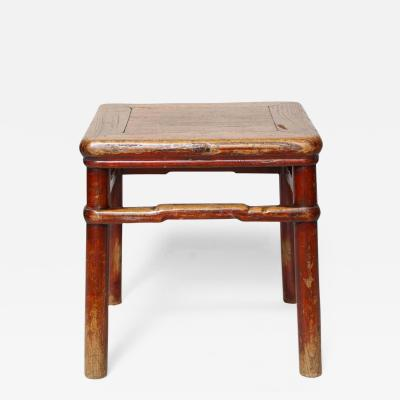 Early 19th Century Chinese Elm Stool