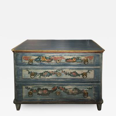 Early 19th Century Continental Painted Commode
