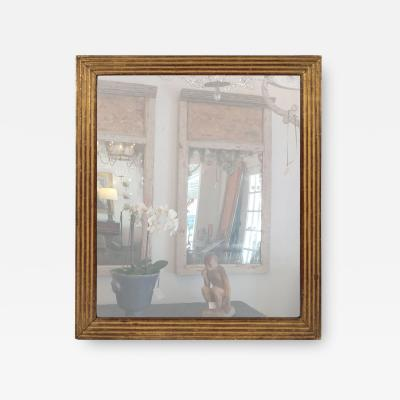 Early 19th Century Fluted Giltwood Mirror