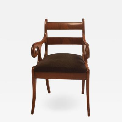 Early 19th Century French Louis Philippe Mahogany Armchair