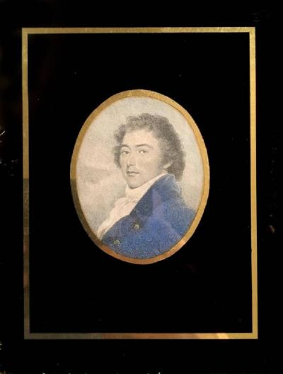 Early 19th Century Hand Colored Portrait Engraving of a Gentleman
