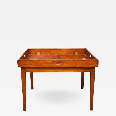 Early 19th Century Mahogany Folding Butlers Tray Occasional Table