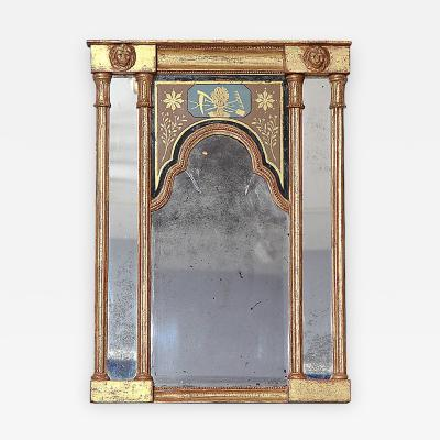 Early 19th Century Neoclassical Mirror with Queen Anne Plate