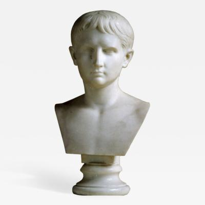 Early 19th c Italian Bust of Caesar Augustus