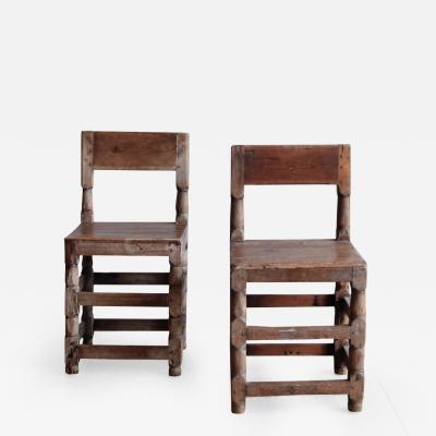 Early 19th century Swedish Carved Side Chairs