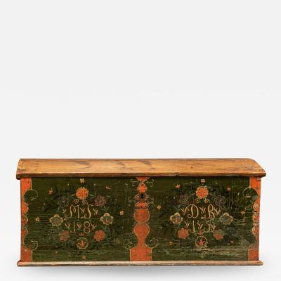 Early 19thC Swedish Marriage Dowry Chest