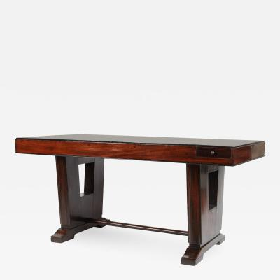 Early 20th C Art Deco French Colonial Rosewood Desk
