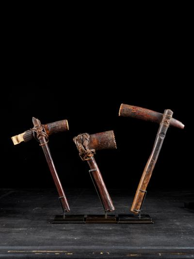 Early 20th C DRC Selection of three Bark cloth Beaters
