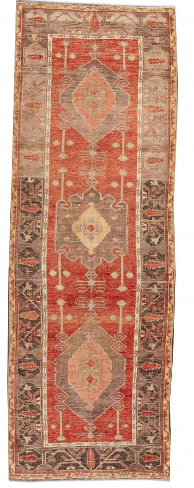 Early 20th Century Antique Anatolian Wool Runner Rug 4 x 10