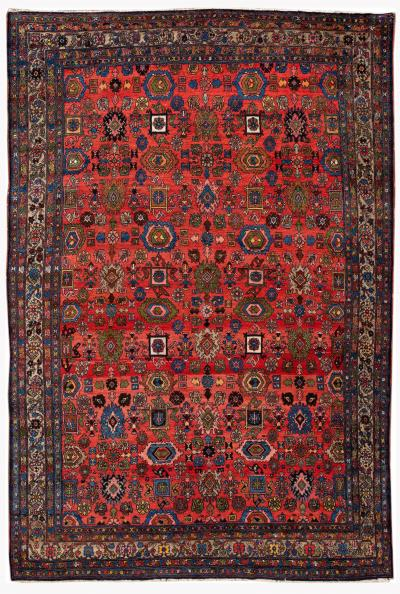 Early 20th Century Antique Bidjar Wool Rug