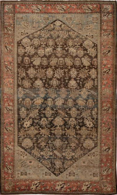 Early 20th Century Antique Bidjar Wool Rug 8 X 13