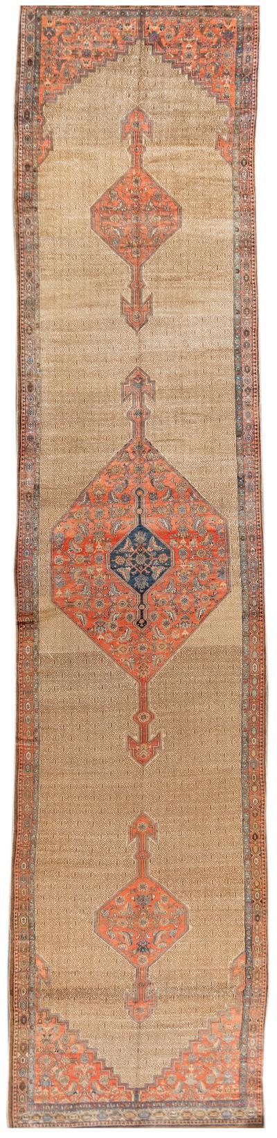Early 20th Century Antique Hamadan Wool Rug 6 x 26
