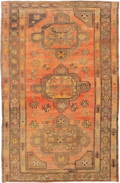 Early 20th Century Antique Khotan Wool Rug 4 X 7
