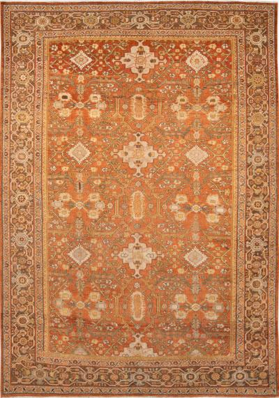 Early 20th Century Antique Mahal Wool Rug 8 X 12