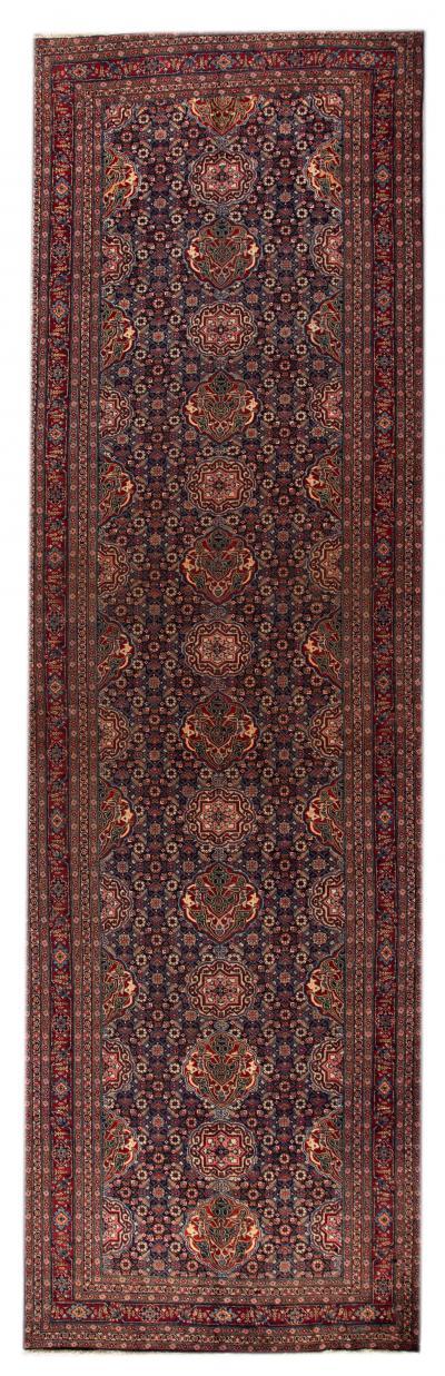 Early 20th Century Antique Tabriz Wool Rug 6 X 19