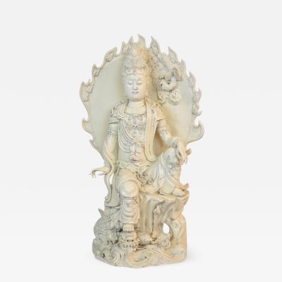 Early 20th Century Blanc de Chine Guan Yin