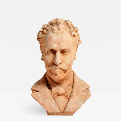 Early 20th Century French Terracotta Bust of a Gentleman