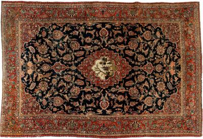 Early 20th Century Hand Knotted Area Rug