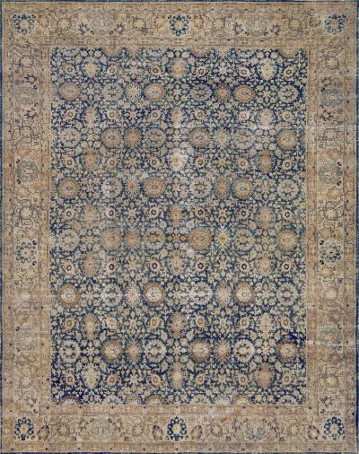 Early 20th Century Handwoven Wool Persian Tabriz Rug
