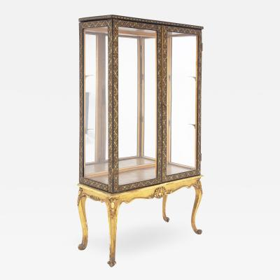 Early 20th Century Italian Vintage Showcase in Painted Wood and Glass