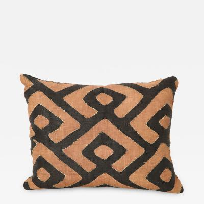 Early 20th Century Kuba Raffia Cloth Pillow Lucca and Co