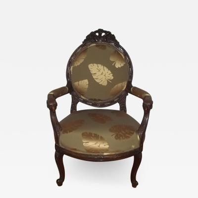 Early 20th Century Louis XVI Style Armchair with Rams Head Armrests