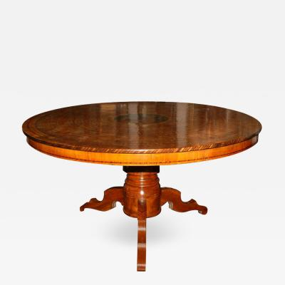 Early 20th Century Marquetry Center Table