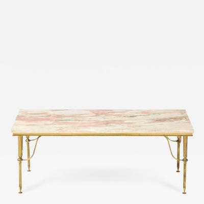 Early 20th Century Pink Marble Cocktail Table