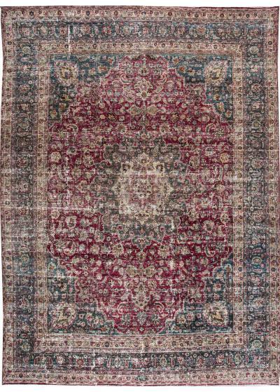 Early 20th Century Vintage Mashad Style Wool Rug