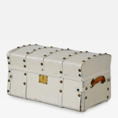 Early 20th Century White Painted Chest