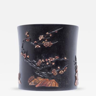 Early 20th Century Zitan Brush Pot