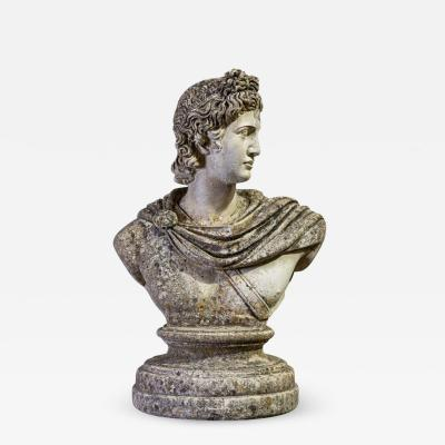 Early 20thC Large Stone Roman Bust