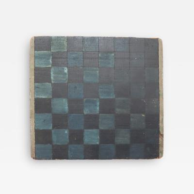 Early Checkerboard in Blues and Black
