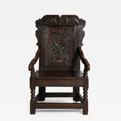 Early English Oak Wainscot Chair