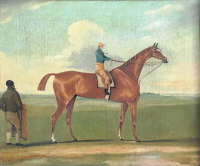 Early Horse Portrait Signed Sartorius