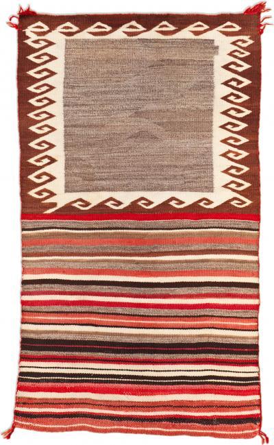 Early Navajo Double Saddle Blanket