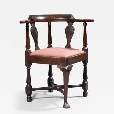 Early Queen Anne Corner Chair Massachusetts Circa 1740