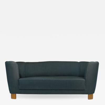 Early Scandinavian Danish 1940 Curved Sofa for Reupholstery