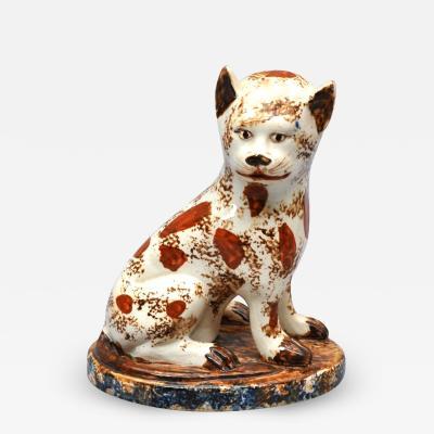 Early Staffordshire Pottery Rare Creamware Cat