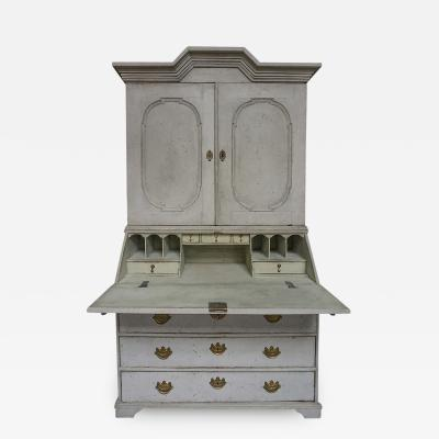 Early Two Part Secretary with Original Hardware