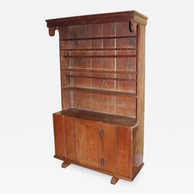 Early Walnut Pewter Cupboard