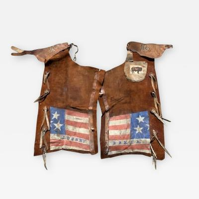 Early Western Chaps Worn by Johnny Baker in the Buffalo Bill Cody old West Show