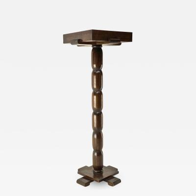 Early rarest Art Deco wooden carved modernist floor lamp
