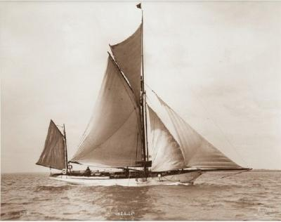 Early silver gelatin photographic print by Beken of Cowes Yacht Verani