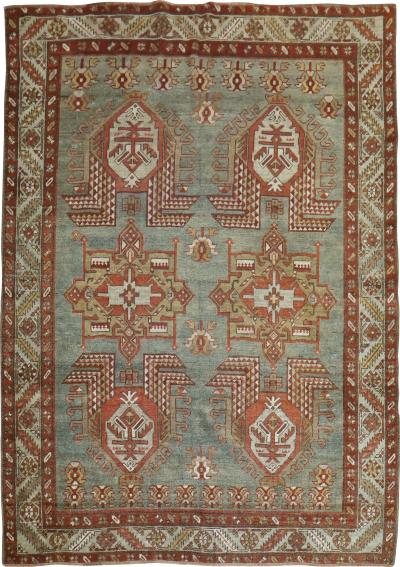 Earth Tone Geometric Heriz Rug rug no 31491