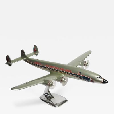 Eastern Airlines Painted Metal Constellation Airplane Desk Model