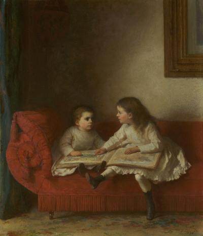 Eastman Johnson The Lesson
