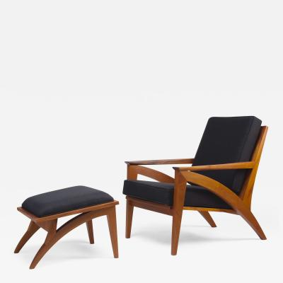 Eben Blaney Wise Lounge Chair and Ottoman