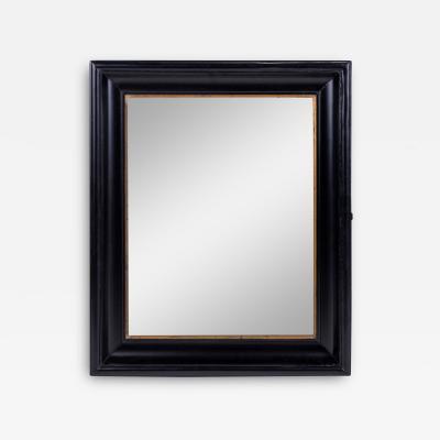 Ebonized Belgian Mirror trimmed in Giltwood Decoration